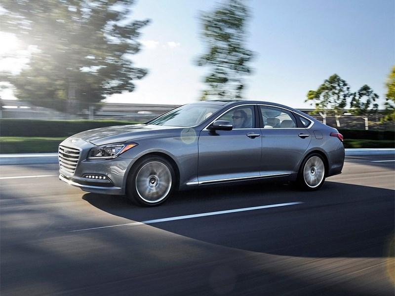 Hyundai Genesis 2014 вид спереди 3/4