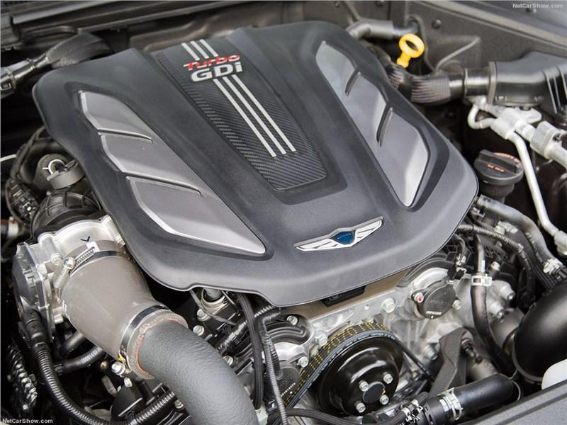 Genesis G90 2016 моторный отсек