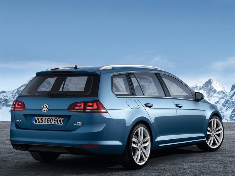Volkswagen Golf VII Variant 2013 вид сзади