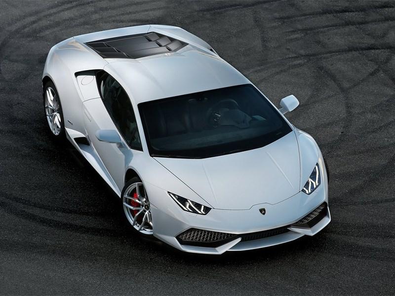 Lamborghini Huracan LP 610-4 2014 вид сверху