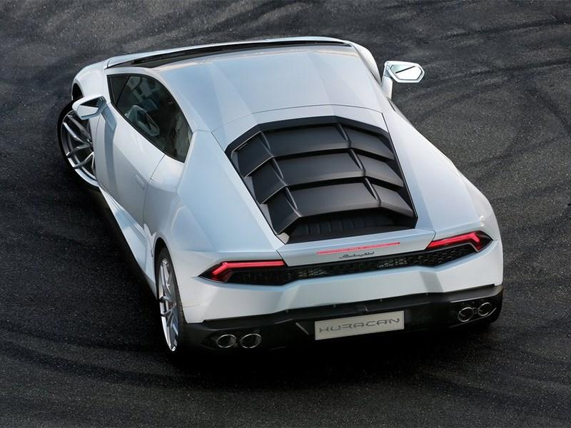 Lamborghini Huracan LP 610-4 2014 вид сзади сверху