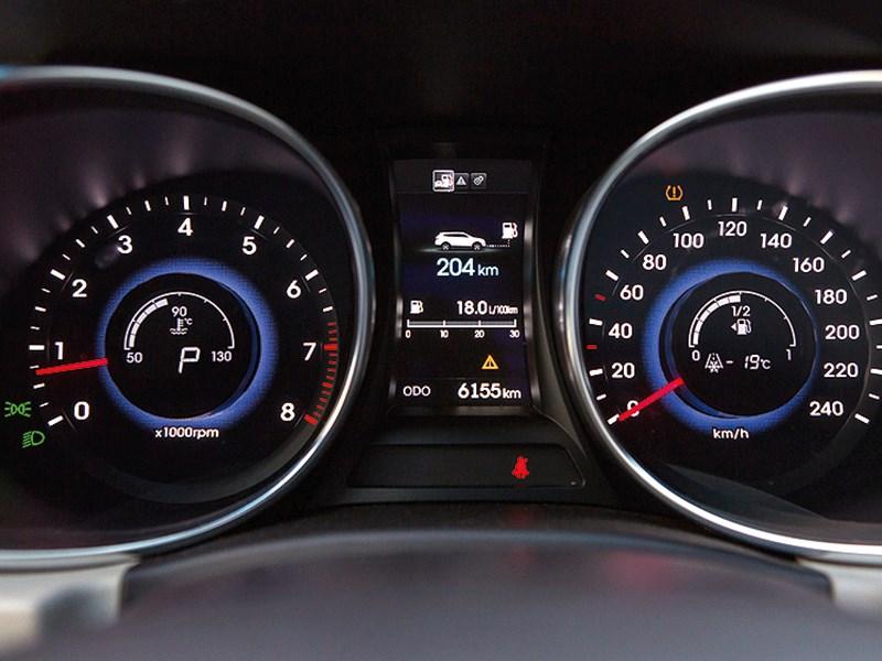 Hyundai Grand Santa Fe 2013 приборная панель