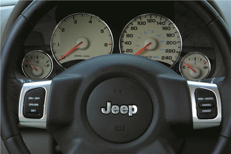 Jeep Cherokee 2001 имеет очень четкую оцифровку приборов