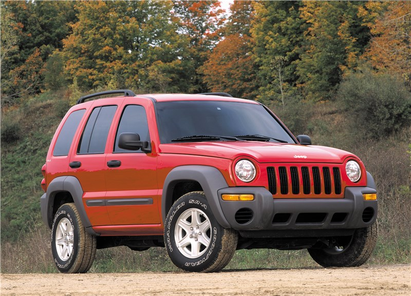 Jeep Cherokee 2001 вид справа спереди
