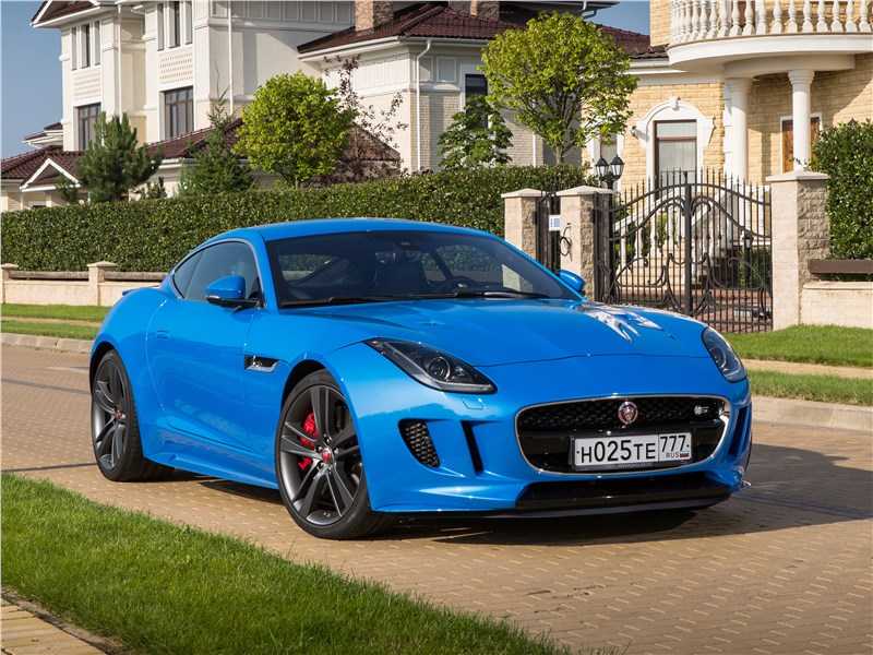 Jaguar F-Type S AWD Coupe 2016 вид спереди