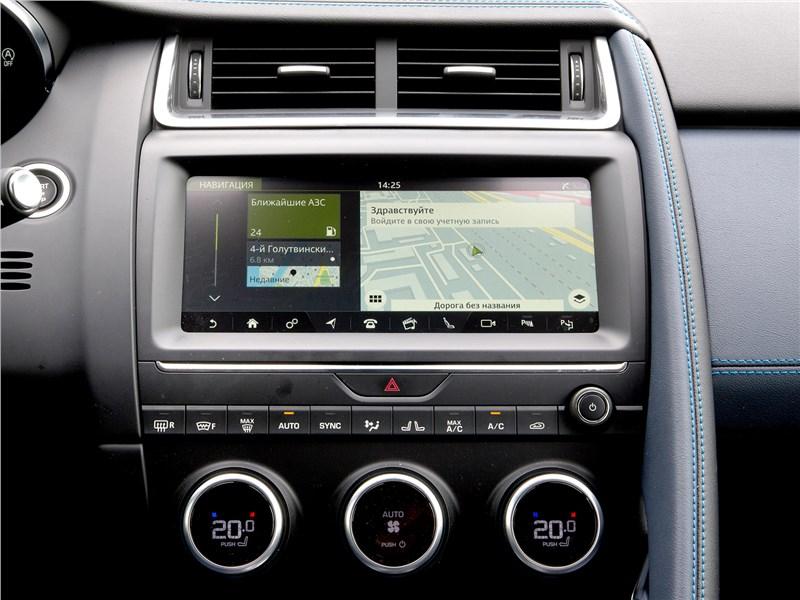 Jaguar E-Pace 2018 центральная консоль