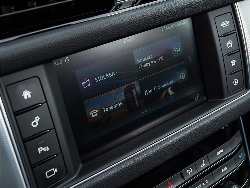 Jaguar XF 2.0 D 2016 монитор