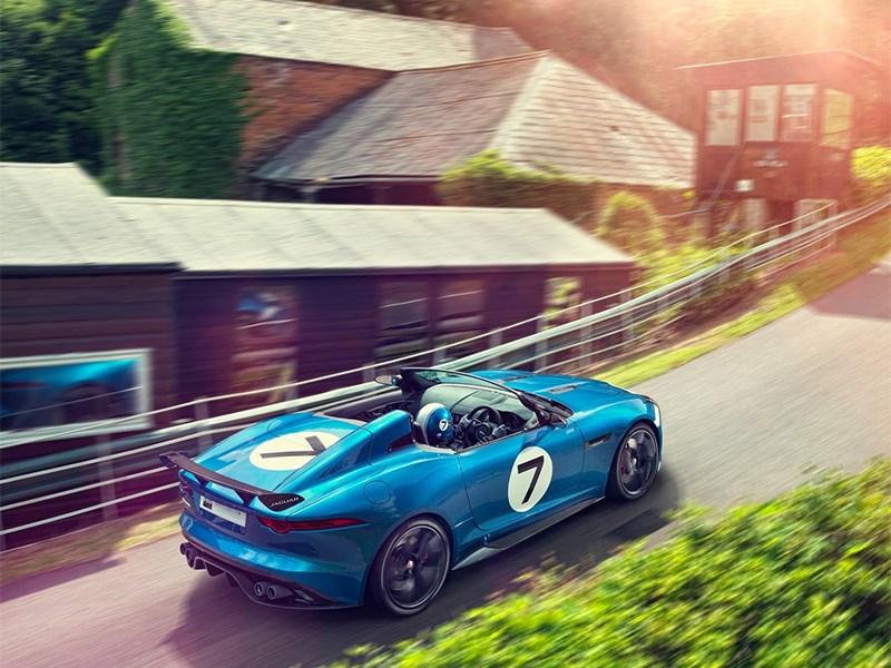 Jaguar Project 7 2013 вид сзади