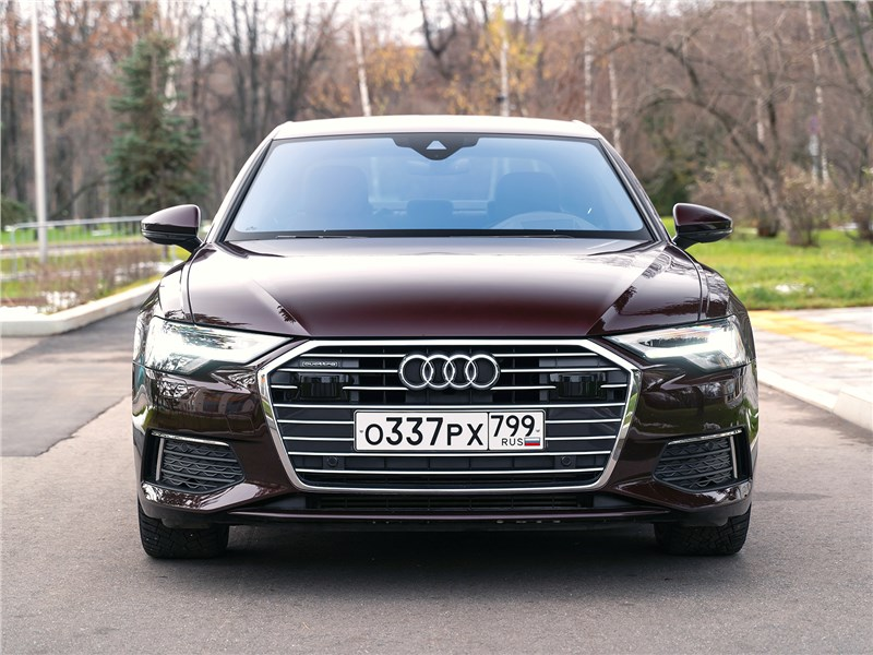Audi A6 45 TDI (2020) вид спереди