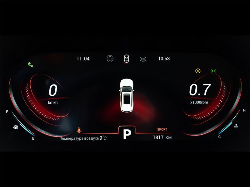 Chery Tiggo 8 Pro (2021) приборная панель