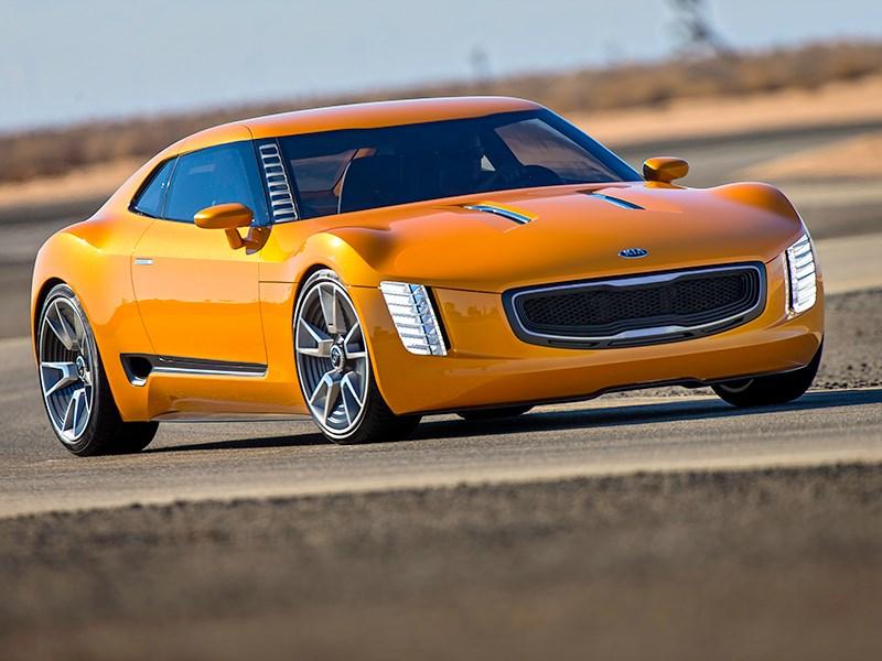 Новый KIA GT4 Stinger - KIA GT4 Stinger concept 2014 вид спереди
