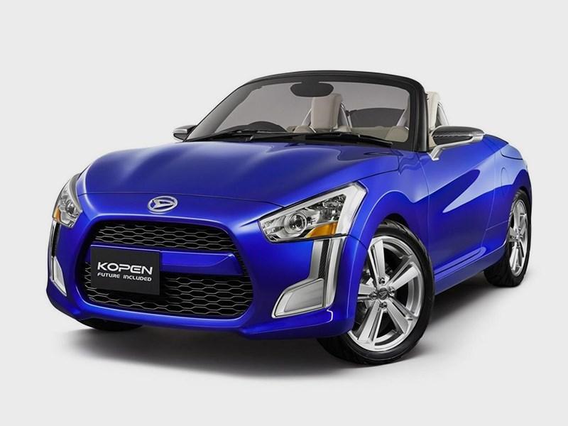 Daihatsu Kopen concept 2014 вид спереди синий