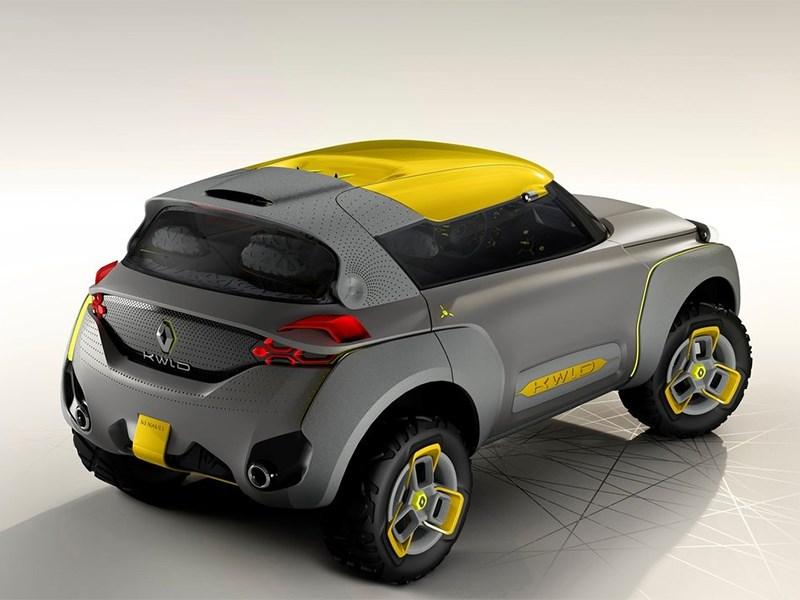 Renault Kwid concept 2014 вид сзади сверху