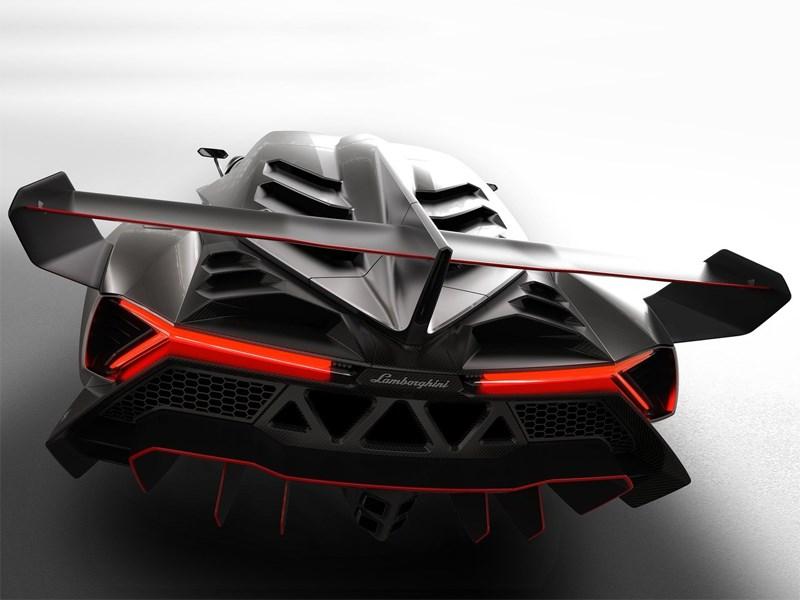 Lamborghini Veneno 2013 вид сзади