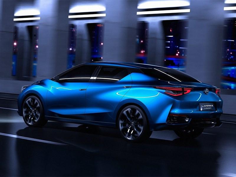 Nissan Lannia concept 2014 вид сбоку сзади