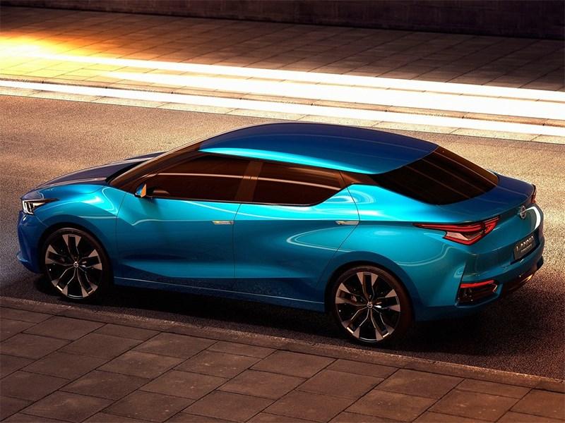 Nissan Lannia concept 2014 вид сбоку сверху