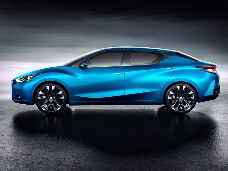 Nissan Lannia concept 2014 вид сбоку