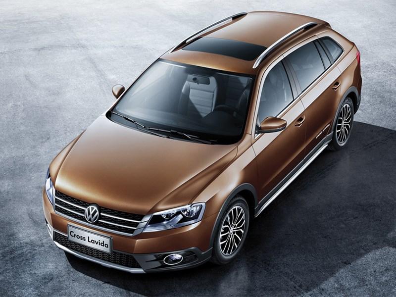 Volkswagen Cross Lavida 2014 вид сверху