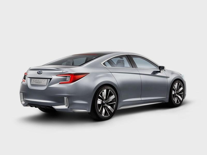 Subaru Legacy concept 2013 вид сзади 3/4