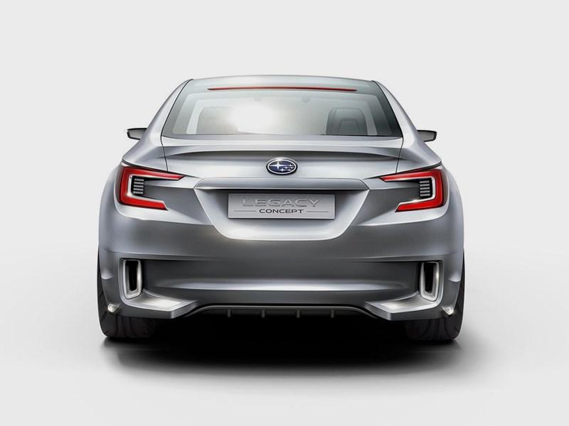 Subaru Legacy concept 2013 вид сзади