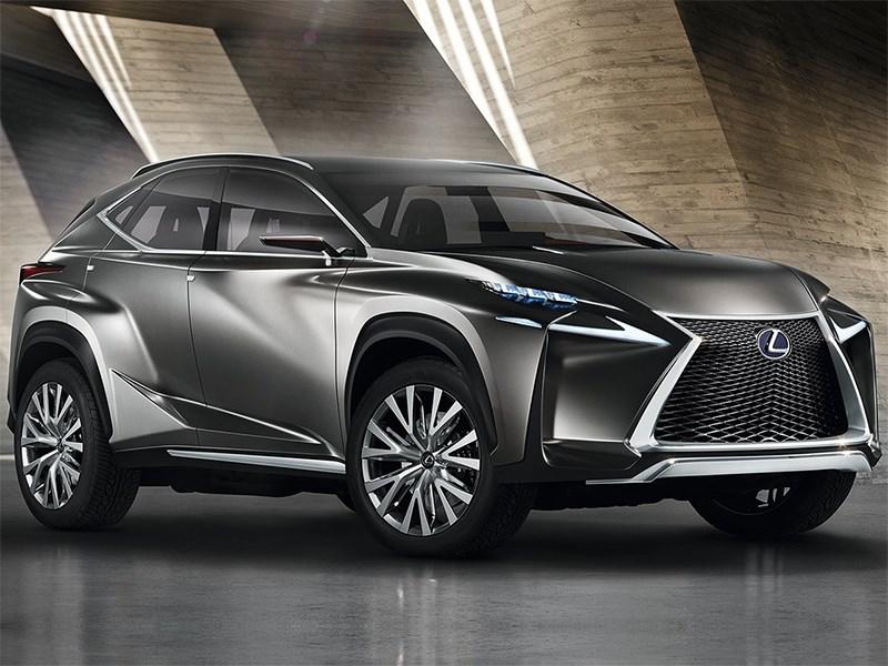 Lexus LF-NX концепт 2013 вид спереди