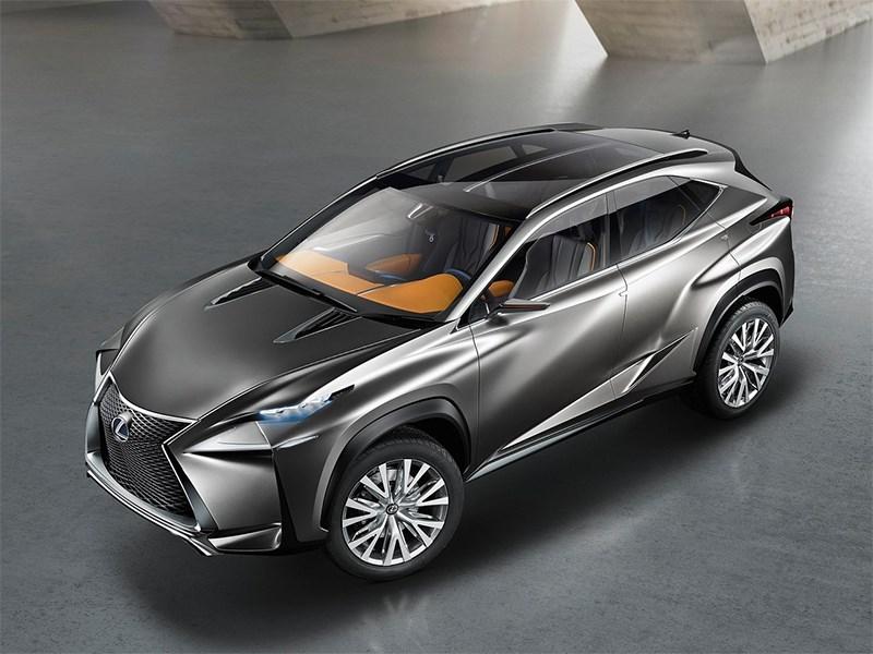 Lexus LF-NX концепт 2013 вид сверху