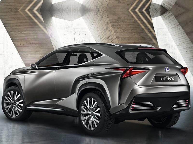 Lexus LF-NX концепт 2013 вид сзади