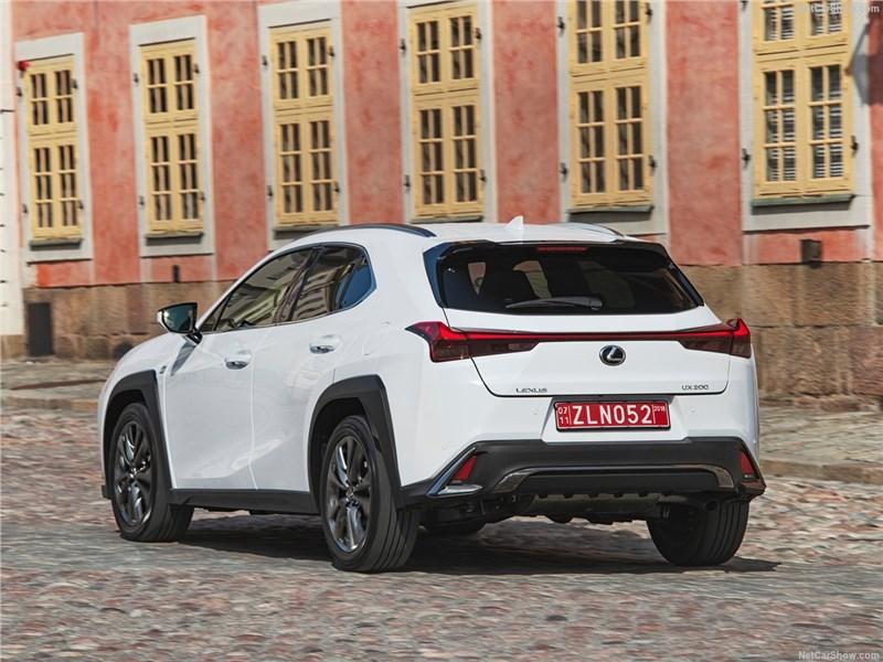 Lexus UX 2019 вид сзади