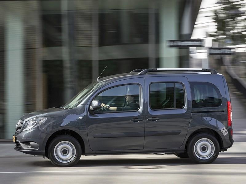 Mercedes-Benz Citan Crewbus 2014 вид сбоку синий