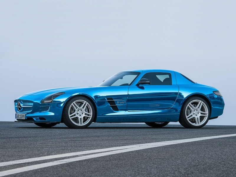 Mercedes-Benz SLS AMG Coupe Electric Drive 2013 вид сбоку