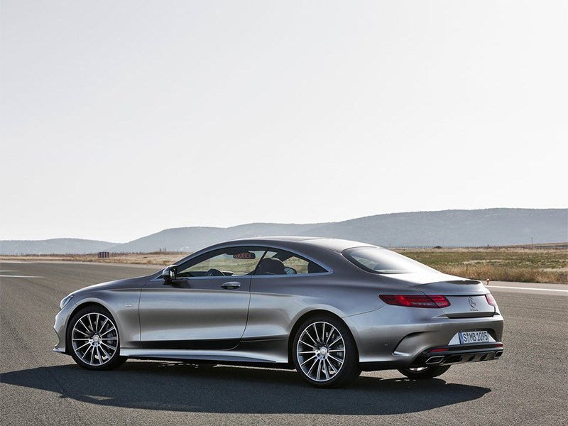 Mercedes-Benz S-Klasse Coupe 2014 вид сбоку сзади