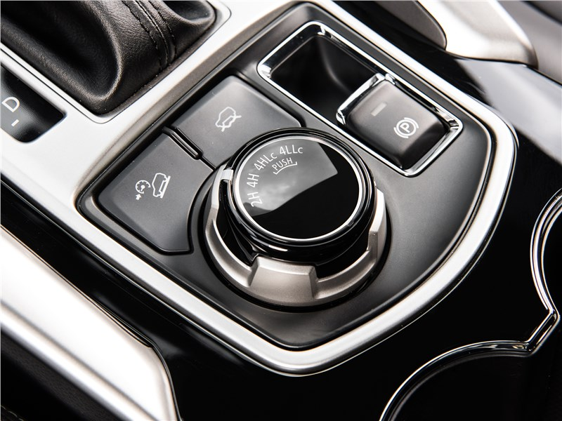 Mitsubishi Pajero Sport 2017 управление трансмиссией
