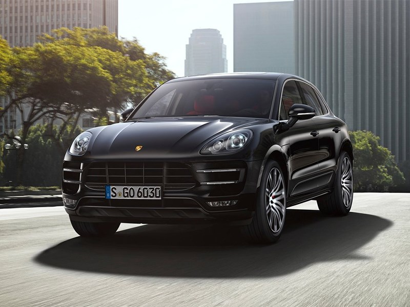 Новый Porsche Macan - Porsche Macan 2014 вид спереди