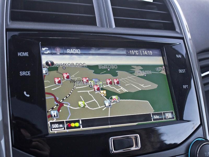 Chevrolet Malibu 2013 дисплей