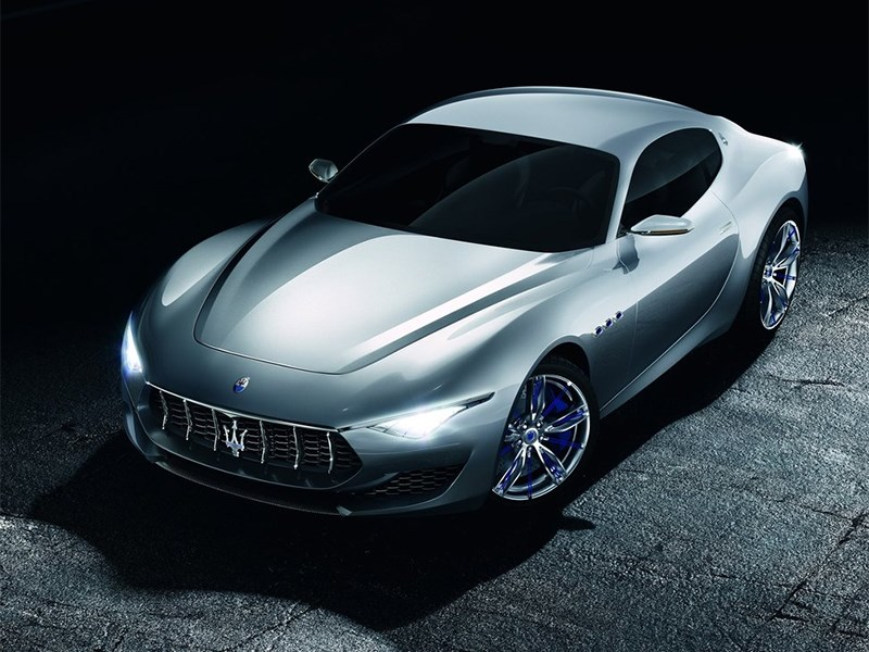 Maserati Alfieri concept 2014 вид спереди сверху