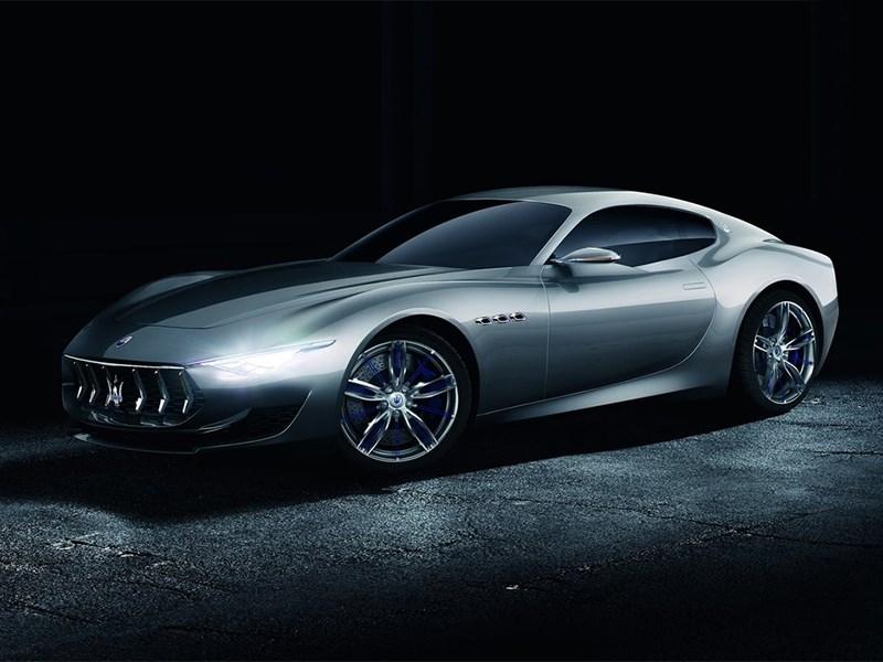 Maserati Alfieri concept 2014 вид спереди сбоку
