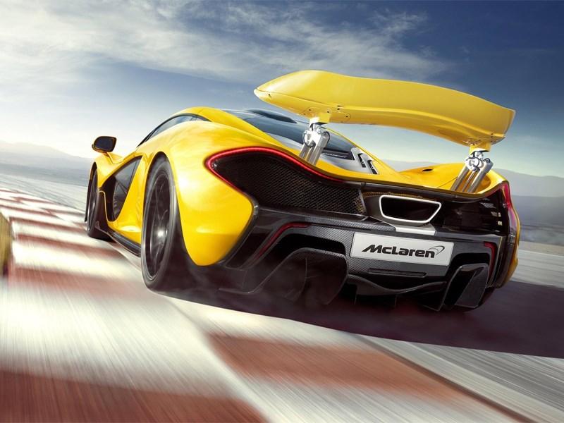 McLaren P1 2013 вид сзади