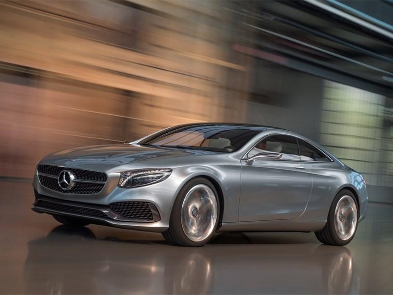 Mercedes-Benz S-Klasse концепт 2014 вид спереди 3/4