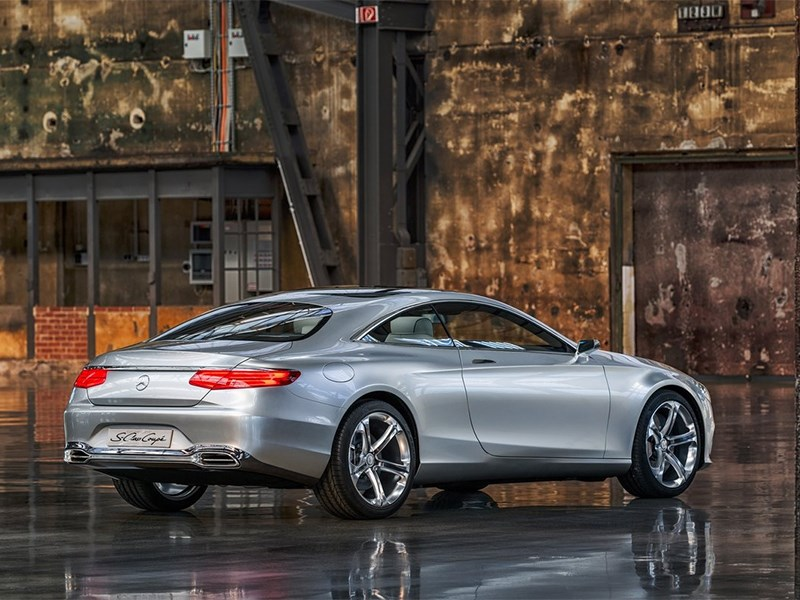 Mercedes-Benz S-Klasse концепт 2014 вид сзади 3/4