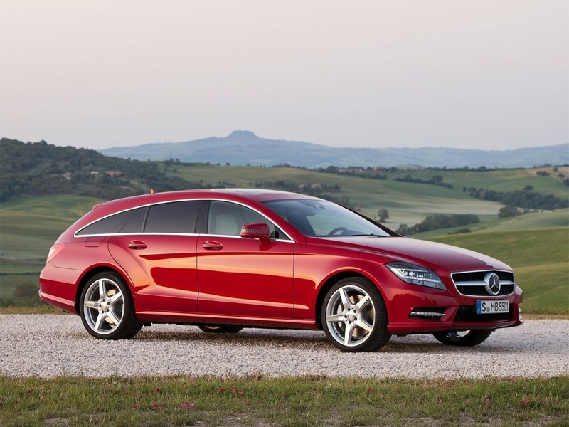 Новый Mercedes-Benz CLS-Class - Mercedes-Benz CLS 2013 вид сбоку