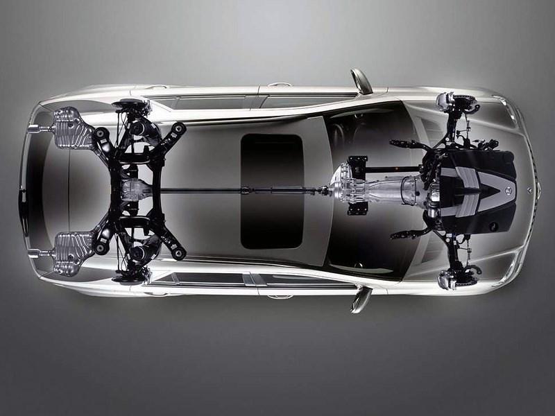 Mercedes-Benz M-Klasse 2005 схема трансмиссии и подвесок