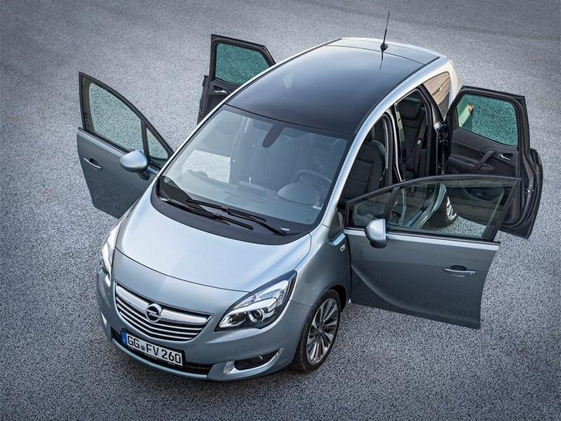 Opel Meriva 2013 вид сверху