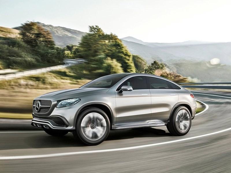 Mercedes-Benz Coupe SUV Concept 2014 вид спереди сбоку