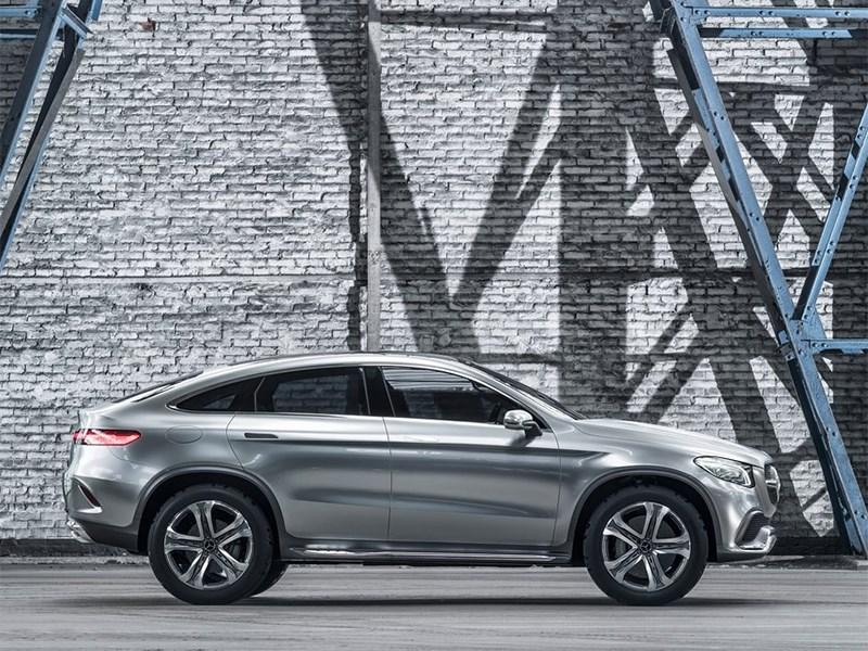 Mercedes-Benz Coupe SUV Concept 2014 вид сбоку фото 2