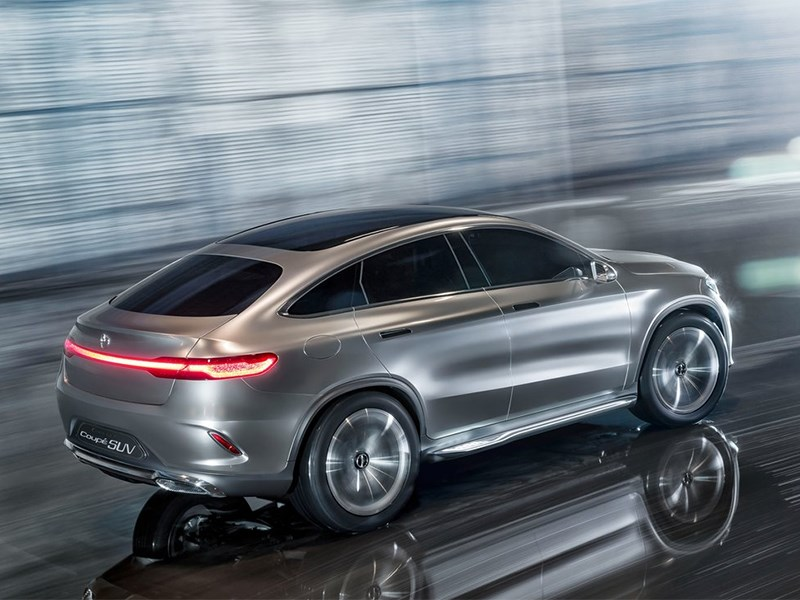 Mercedes-Benz Coupe SUV Concept 2014 вид сбоку сверху