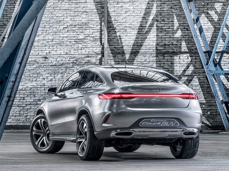 Mercedes-Benz Coupe SUV Concept 2014 вид сзади сбоку