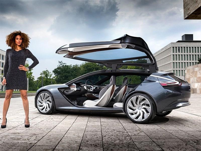 Новый Opel Monza - Opel Monza концепт 2013 вид сбоку