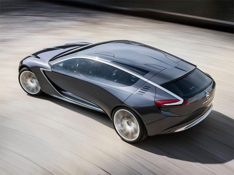 Opel Monza концепт 2013 вид сверху