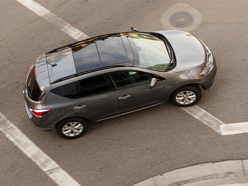 Nissan Murano 2013 вид сверху