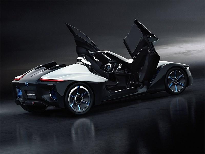 Nissan BadeGlayder concept 2013 вид сбоку с открытыми дверями